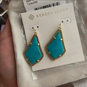 Kendra Scott 'Alex' earrings in Turquoise